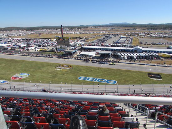 Talladega, Алабама: View from the spotters area.