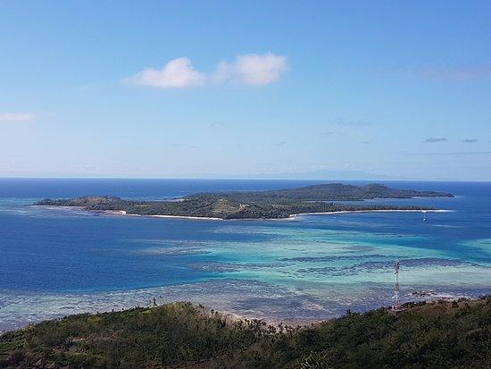 Остров Тавева, Фиджи: Ausblick vom Hügel hinterm Resort