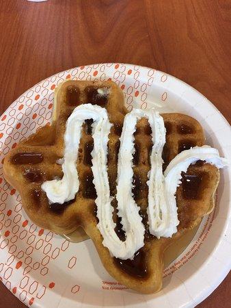 Hillsboro, تكساس: Texas waffle!