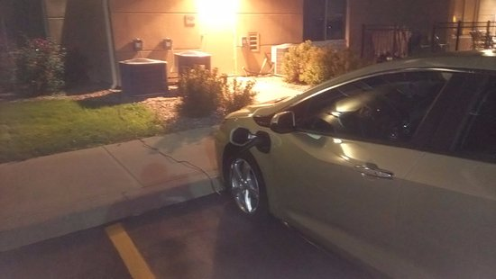Watertown, NY: Charge your EV behind hotel