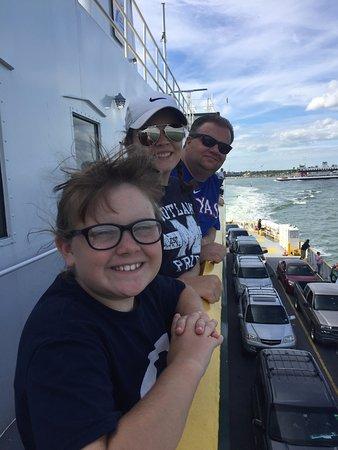 Galveston - Port Bolivar Ferry: My people on the boat