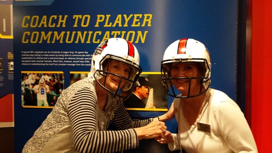 Canton, OH: Having fun with the helmet interactive display.