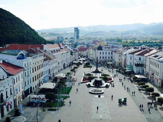 Banska Bystrica, Slovakia: View from the top of Clock Tower.