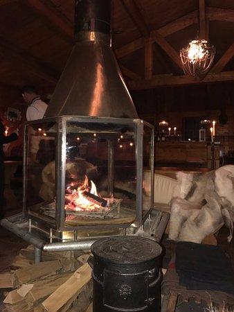 Клотен, Швейцария: Fireplace - must be really nice when it's cold