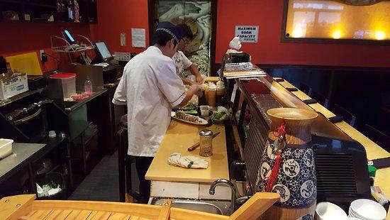 Santee, Kalifornia: Sushi, Bar Area