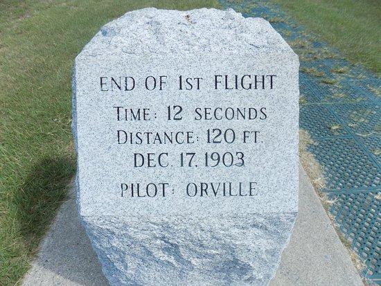Kill Devil Hills, NC: End of 1st Flight