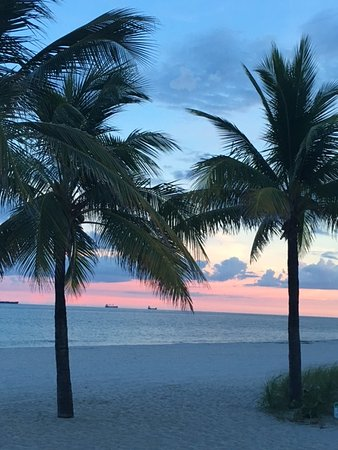 Sunset on Fort Lauderdale Beach! Great time for a lively walk along the shore!