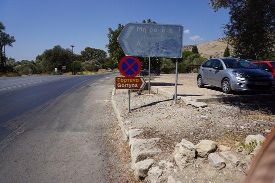 Heraklion Prefecture, Grèce : уквзатель,там же т стоянка-бесплатная