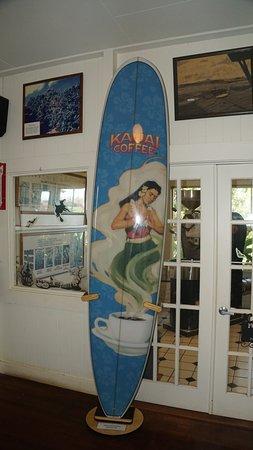 Kalaheo, ฮาวาย: Surfboard in Museum