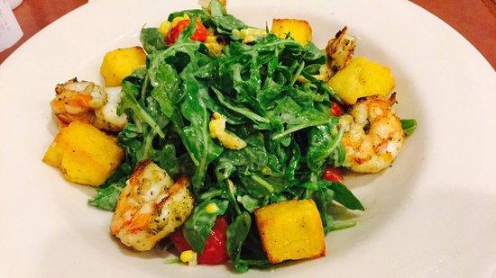 Towson, MD: Grilled Shrimp & Arugula Salad with Sweet Corn