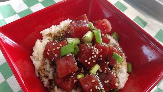 Something Fishy: Ahi tuna bow with Jasmine Cilantro lime rice