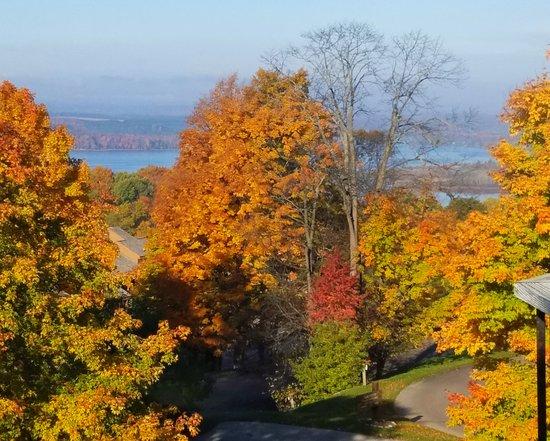 Bellaire, MI : Beautiful fall colors.  Wonderful weekend getaway.  Restaurant terrific.  Will definitely go bac