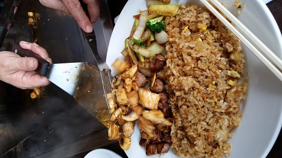 Libertyville, IL: Steak and chicken hibachi,  love their creamy dressing too.