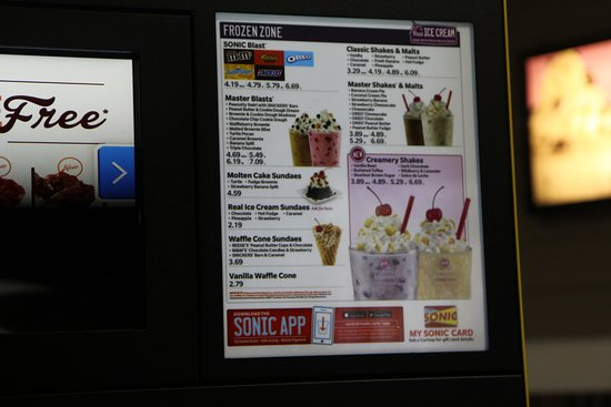 Peabody, MA: Drink Menu for Ice cream (Right Side)