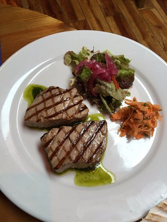 Out of the Blue Seafood: Chargrilled tuna medallions