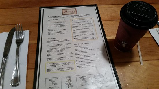 Canton, CT: Village Cafe and Bistro Breakfast Menu
