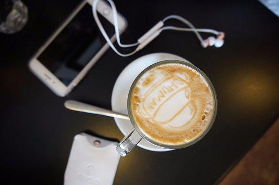 Joondalup, Αυστραλία: Daft Punk latte art