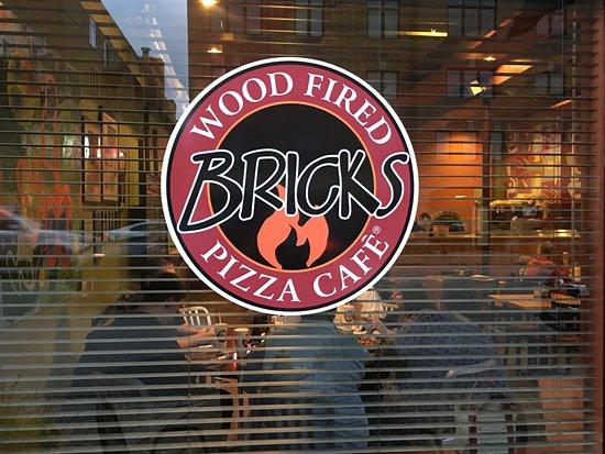 Brick's Pizza- Lombard Illinois- restaurant front window