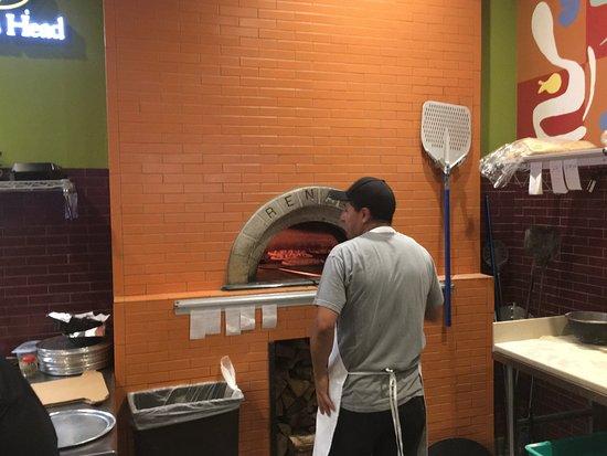 Brick's Pizza- Lombard Illinois- the brick pizza oven