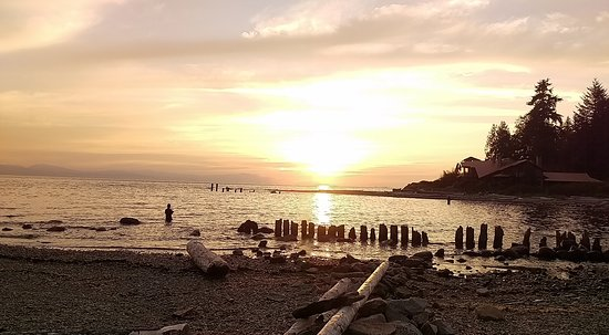 Sechelt, Kanada: Fishing in the last light, Roberts Creek