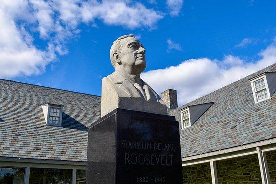 Hyde Park, NY: Bust of FDR