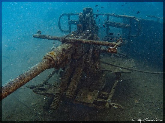Bophut, Tajlandia: Gan on ship wreck WW2 - HTMS Sattakut.