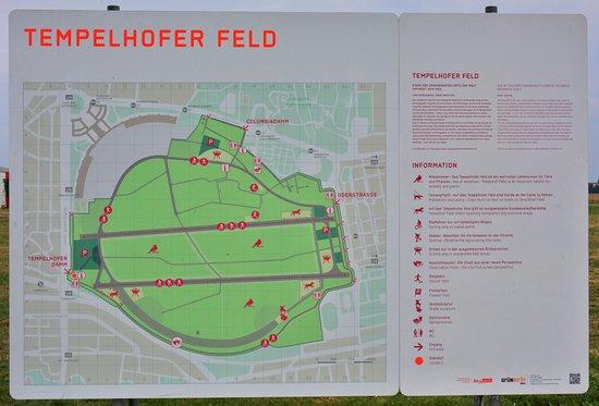 Map of the field Picture of Tempelhofer Park Berlin TripAdvisor