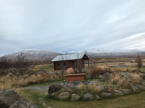 Varmahlid, Islandia: Surrounded by mountains, and a perfect place to watch the northern lights