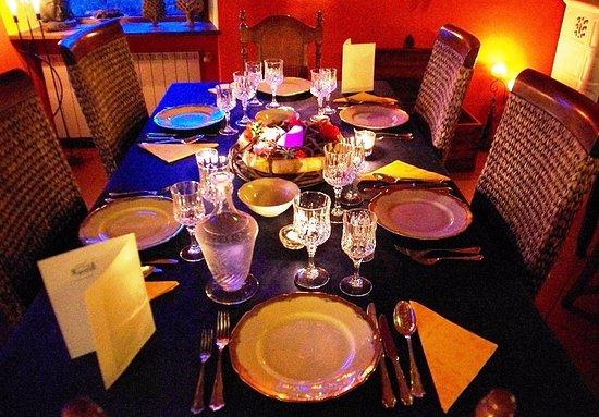 Arcidosso, İtalya: cena in blu