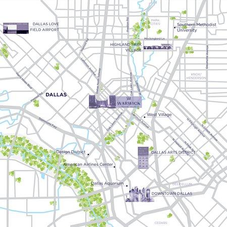 Warwick Melrose Hotel Dallas: City Map DALLAS