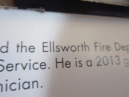 Ici, c'est Ellsworth, USA