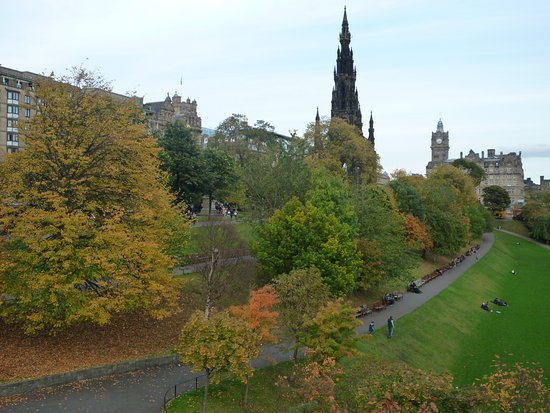 View of Princes Street from Gardens - Picture of Princes Street ...
