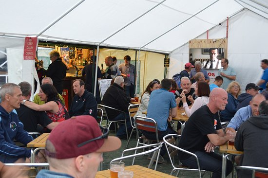 Silverstone, UK: Visitors to our bar during the F1 charity event 2016