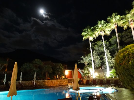 Hotel Cala Sant Vicenc: Pool at Night