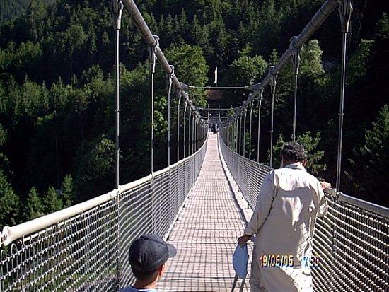 Oberried, Tyskland: The 218-meter long hanging bridge.