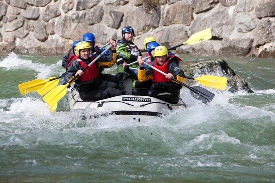 Nazarje, Slovenia: Rafting on the vivid Savinja river (photo: Gasper Domjan)
