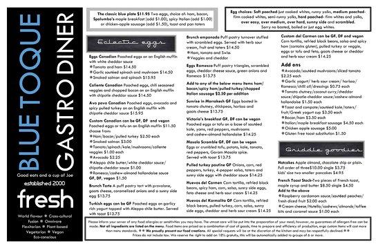 Fernie, Kanada: menu page 1