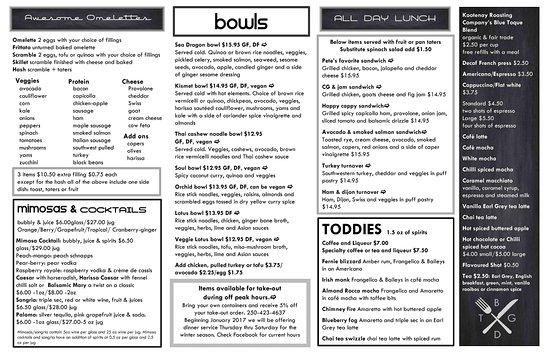 Fernie, Kanada: menu page 2