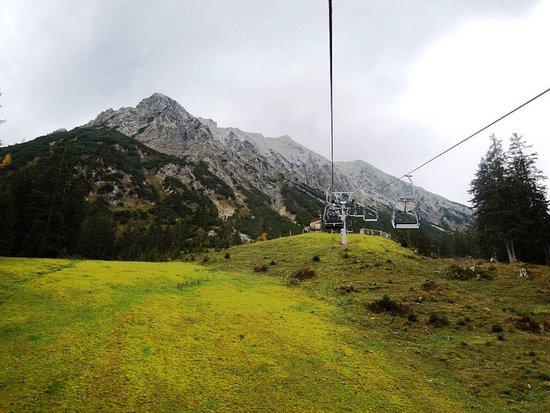Nesselwaengle, Austria: подъезжаю к верхней станции