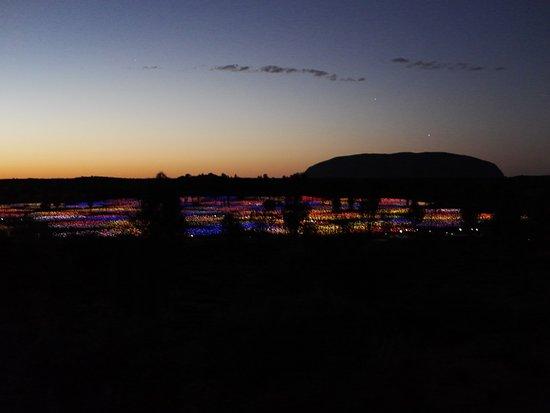 Yulara, Australia: sunrise and the field of light