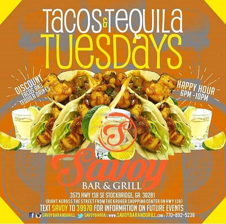 ‪‪Stockbridge‬, جورجيا: Taco and Tequila Tuesdays‬