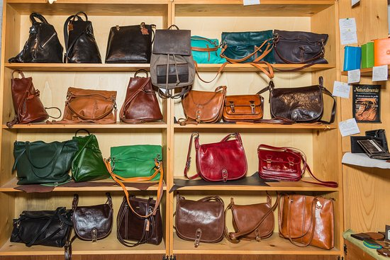 a0d37af8ad Some of his products - Picture of Bottega Artigiana Polifemo Cuoio ...