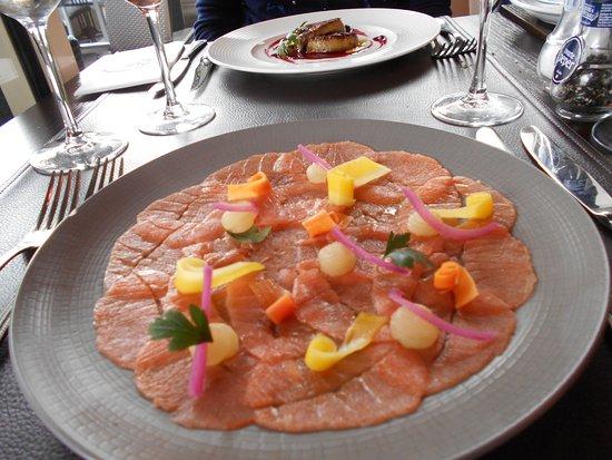 Волюве-Сен-Пьер, Бельгия: Carpaccio de saumon au citron vert