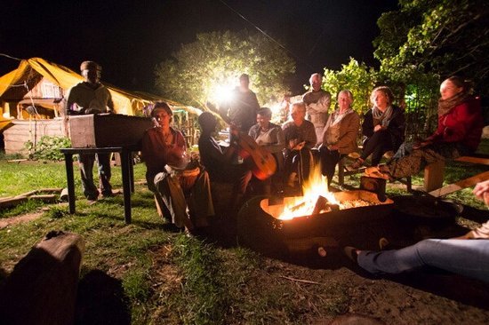Wilderness, South Africa: making music around the fire
