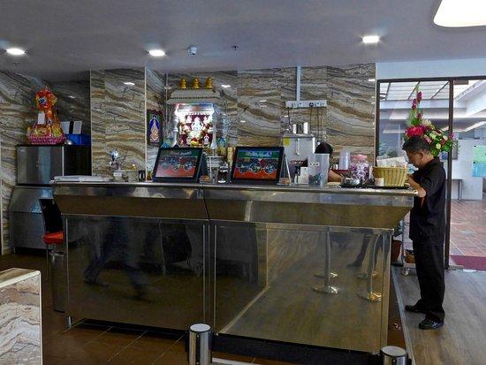 karus indian banana leaf restaurant cashiers counter