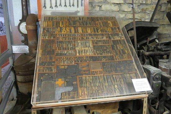 Wick Heritage Museum: type case
