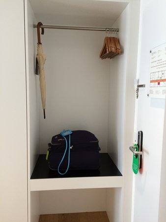 ABC Swiss Quality Hotel : wardrobe (brolly for use if needed, could purchase if wished).