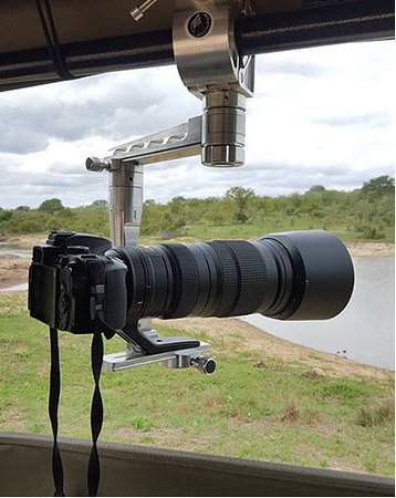 Hazyview, Sydafrika: GIMPRO Photographic arms for stability of lease on photo safari