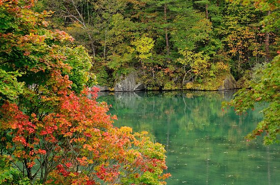 Hasil gambar untuk goshikinuma lake