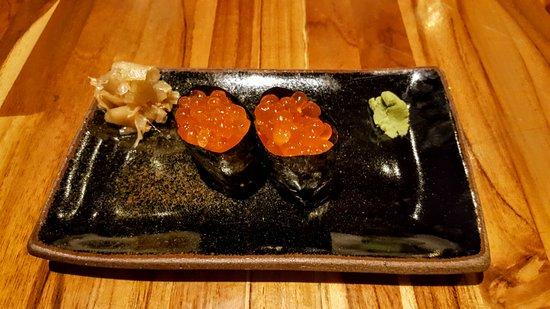 Sushi Papaia Vilaboim: sushi de ovas